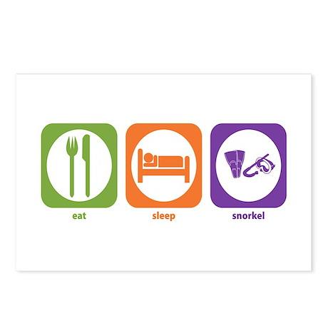 Eat Sleep Snorkel Postcards (Package of 8)