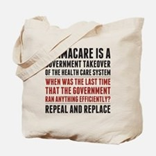 Repeal And Replace Obamacare Tote Bag