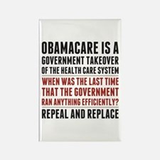 Repeal And Replace Obamacare Rectangle Magnet