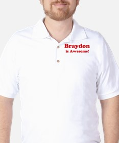 Braydon is Awesome Golf Shirt