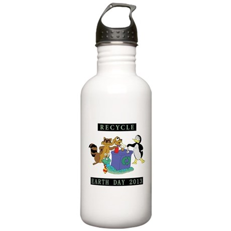 Recycle Earth Day 2013 Stainless Water Bottle 1.0L