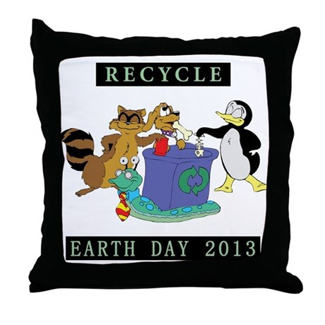 Recycle Or Throw Away Pillows : Recycle Earth Day 2013 Throw Pillow by shirt_gift_shop