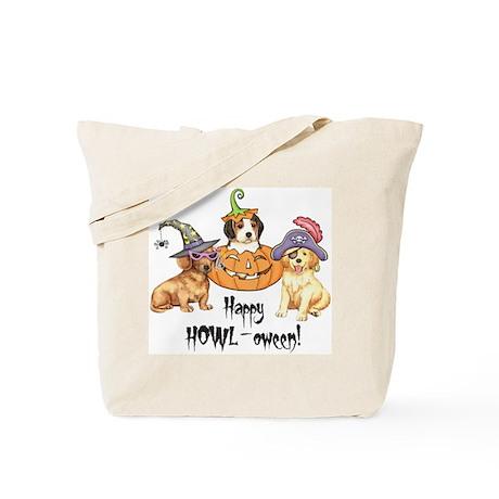 Halloween Puppies Tote Bag