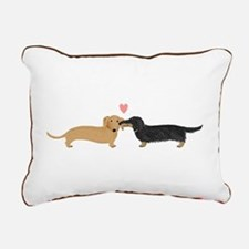 Dachshund Smooch Rectangular Canvas Pillow