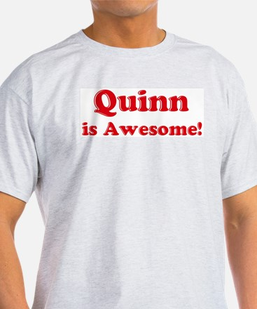 Quinn is Awesome Ash Grey T-Shirt