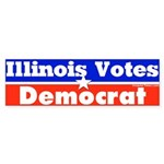 Illinois Votes Democrat Bumper Sticker