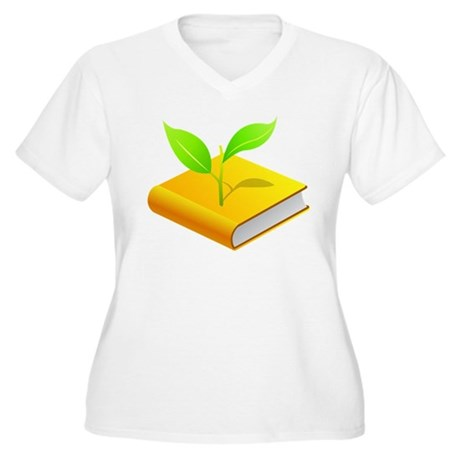 Plant the Seed Women's Plus Size V-Neck T-Shirt