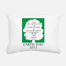 Earth Day Quote 2013 Rectangular Canvas Pillow