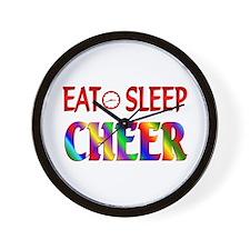 Eat Sleep Cheer Wall Clock