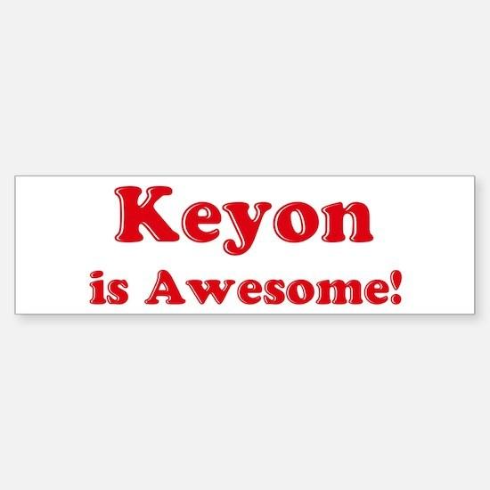 Keyon is Awesome Bumper Car Car Sticker
