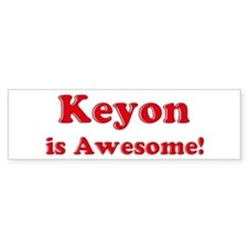 Keyon is Awesome Bumper Car Sticker