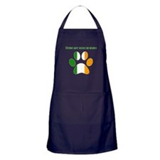 Even My Dog Is Irish Apron (dark)