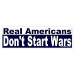 Real Americans Bumper Sticker