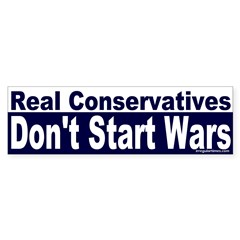 Real Conservatives Bumper Bumper Sticker