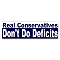 Real Conservatives Bumper Bumper Sticker