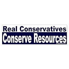 Real Conservatives Conserve (Sticker)