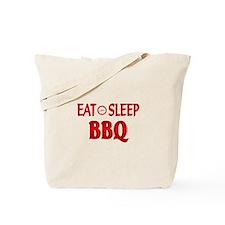 Eat Sleep BBQ Tote Bag