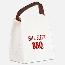 Eat Sleep BBQ Canvas Lunch Bag