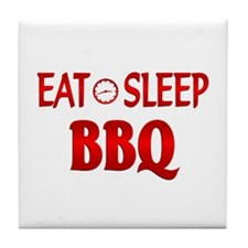 Eat Sleep BBQ Tile Coaster