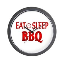 Eat Sleep BBQ Wall Clock