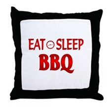 Eat Sleep BBQ Throw Pillow