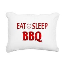Eat Sleep BBQ Rectangular Canvas Pillow