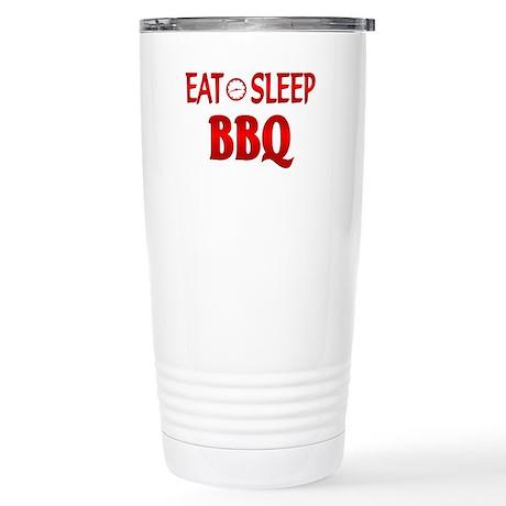 Eat Sleep BBQ Stainless Steel Travel Mug