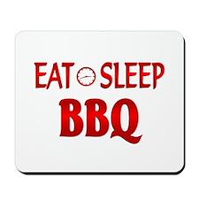 Eat Sleep BBQ Mousepad