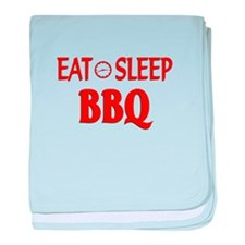 Eat Sleep BBQ baby blanket