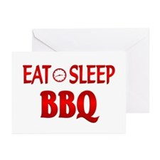 Eat Sleep BBQ Greeting Cards (Pk of 10)