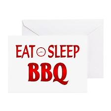Eat Sleep BBQ Greeting Cards (Pk of 20)
