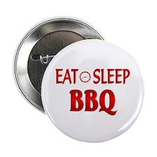 """Eat Sleep BBQ 2.25"""" Button (100 pack)"""