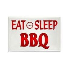 Eat Sleep BBQ Rectangle Magnet