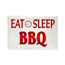 Eat Sleep BBQ Rectangle Magnet (100 pack)