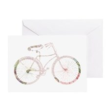 Floral Vintage Bicycle Greeting Card