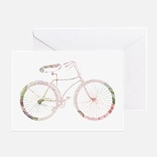 Floral Vintage Bicycle Greeting Card