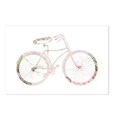 Floral Vintage Bicycle Postcards (Package of 8)