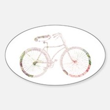 Floral Vintage Bicycle Decal