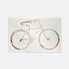 Floral Vintage Bicycle Rectangle Magnet (10 pack)
