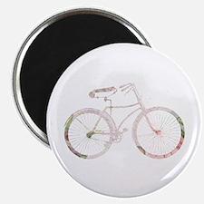 """Floral Vintage Bicycle 2.25"""" Magnet (10 pack)"""