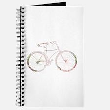 Floral Vintage Bicycle Journal
