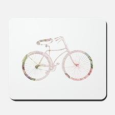 Floral Vintage Bicycle Mousepad