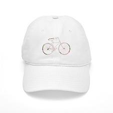 Floral Vintage Bicycle Baseball Cap