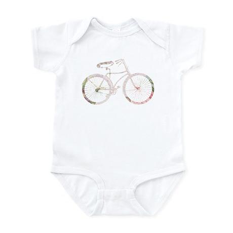 Floral Vintage Bicycle Infant Bodysuit
