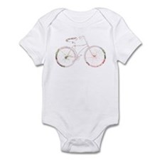 Floral Vintage Bicycle Infant Bodysuit