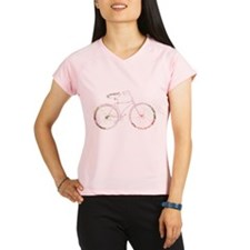 Floral Vintage Bicycle Performance Dry T-Shirt