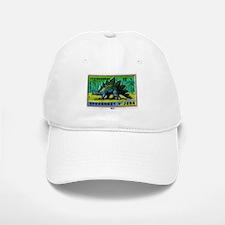 Stegosaurus Czechoslovakian Matchbox Label Baseball Baseball Cap