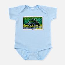Stegosaurus Czechoslovakian Matchbox Label Infant