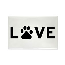 Love Paw Rectangle Magnet