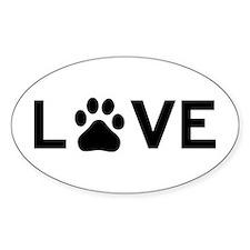 Love Dog Decal